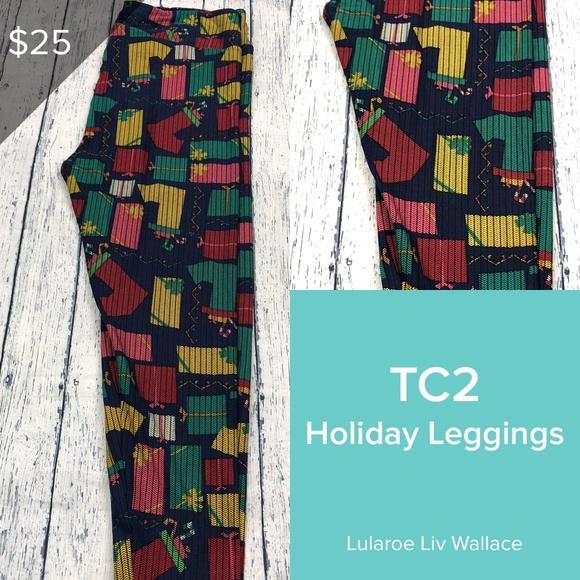 cf3dc3e6d4a519 LuLaRoe Pants | Christmas Tc2 Leggings | Poshmark